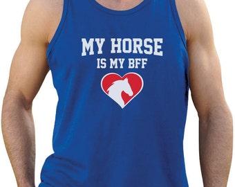 My Horse is My BFF - Men's Tank Top Singlet