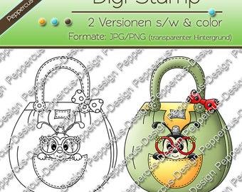 Digi stamp set - beetle in Pocket / E0154