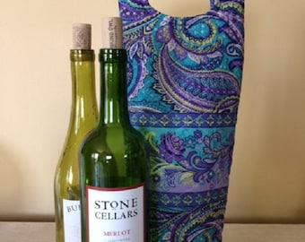 Wine Lover Gift - Wine Gifts - Wine Bag - Wine Bag Holder - Wine Holder - Wine Gift Bag - Wine Bottle Holder - Wine Bottle Tote - Wine Tote