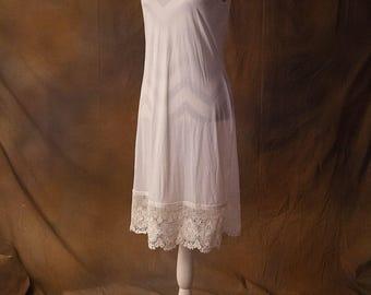LIMITED TIME White Embroidered Floral Lace Full Slip Skirt/Dress Extender
