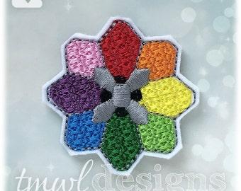 """Fantasy Tournament Rainbow Badge Feltie Digital Design File - 1.75"""""""