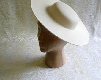 Large Ivory Cream Saucer Hat Base Straw Fascinator Hat Form for DIY Hat Millinery Supply Round Shape 12 inch Wide Brim