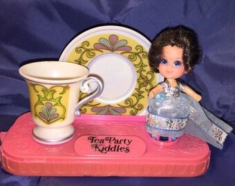 Lady Silver liddle Kiddles Tea Party tea set mint kiddle complete