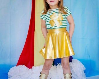 Dreaming Kids Gold Metallic Skirt