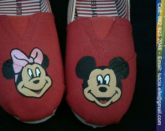 Hand Painted Mick n Min 'Travis & Morgen' shoes