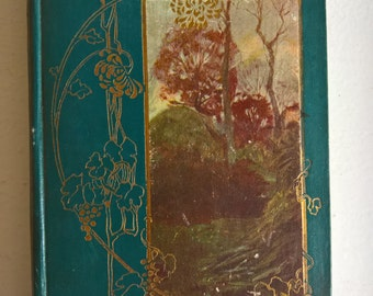 Poems by James Russell Lowell --- Antique American Romantic Poetry Collection Book --- Art Nouveau Romance Literature Edwardian Library