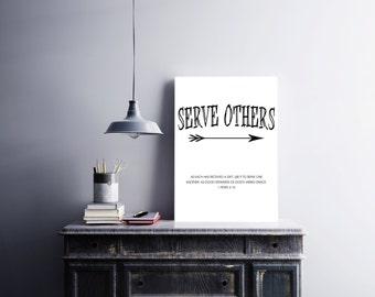 Serve Others Digital Print