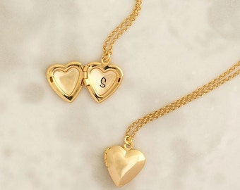 Heart Locket, Personalized Locket, Gold Heart Locket, Locket Necklace, Heart Necklace, Personalized Jewelry, Initial Locket, Bridesmaid gift