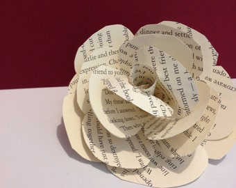 Stemless Paper Roses - Book Pages
