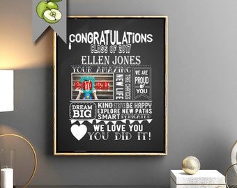 Photo Graduation sign, Graduation Chalkboard Sign, Graduation Party, Decoration Poster, student, High School College, Digital printable