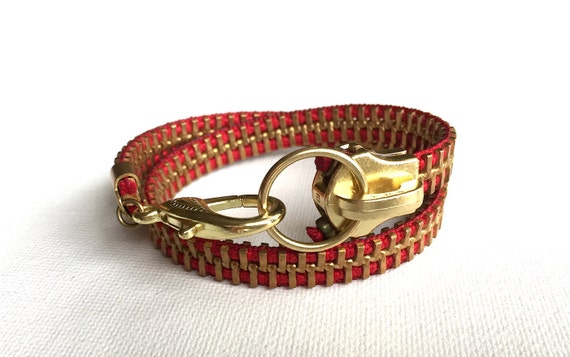 IMPACT Big Zipper Wrap Bracelet: YKK Ring Pull
