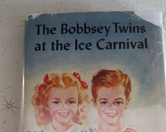 Vintage book 1941 /the bobbsey twins at the ice carnival / hardcover /Laura Lee hope/ no. 34 / Grosset and Dunlap/