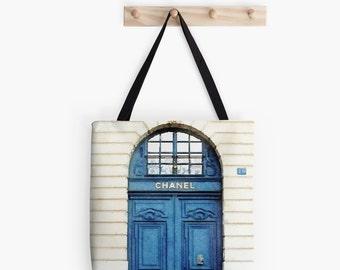 Chanel Door Tote Bag, Drawstring Bag, Chanel Market Bag, Chanel Bag, Chanel Purse, Fashion Blog, Black White Blue, Personalized Backpack
