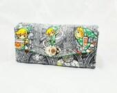 Custom Made Zelda Necessary Clutch Wallet - Zelda NCW - Handmade Wallet - Zelda Wallet - Link Stained Glass Wallet