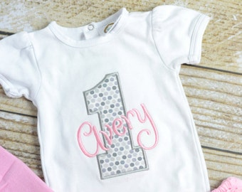 Pink and silver First (1st) Birthday Outfit - Baby girl birthday outfit, pink silver cake smash outfit tutu