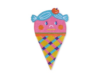 Strawberry icecream cone Iron on patch