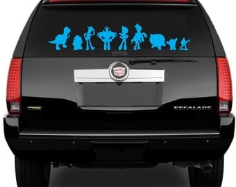 TOY STORY Silhouette You've Got a Friend Car Decal Wall Decal Sticker Large Sizes