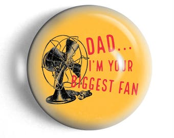 Large paperweight Fathers day gift for dad your biggest fan funny humorous pun office gift.