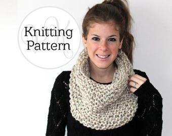 Knitting Pattern Chaptico Cowl Instant Download