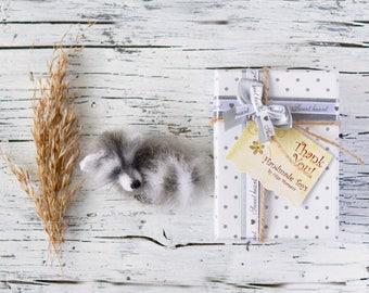 Raccoon brooch animal jewelry animal brooch raccoon miniatures cute gift for her handmade brooch stuffed animal kawaii plush birdhday gift
