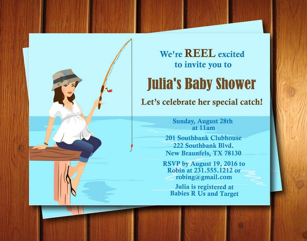 Fishing baby shower invitation for Fishing baby shower