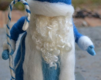 Pere Noel Needle Felted Waldorf Inspired Santa Claus made to order Father Christmas