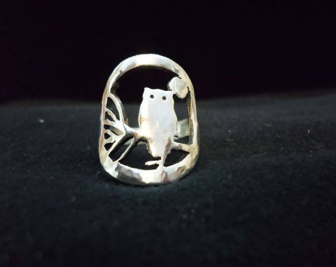 owl ring quarter size