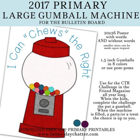 2017 Primary Gumball Machine Poster