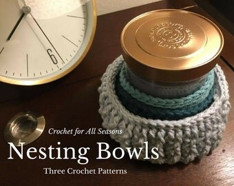 Three Nesting Bowls Crochet Pattern