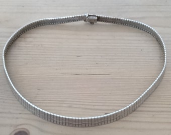 Vintage sterling silver choker necklace