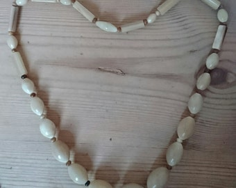 Vintage horn bead necklace