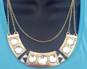 Gold Necklace, Statement Necklace,Choker, Collar Necklace, Necklace, Chain Necklace, Bib Necklace, Black Necklace,