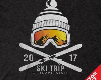 Custom Snow Ski Trip Ski Vacation Shirts for 2017