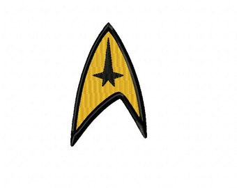 Star Trek COMMAND Logo ~ Machine Embroidery Design in 2 sizes - Instant Download