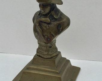 SALE! Antique Vintage Bronze Bust of Napoleon Bonaparte Vintage Napoleon Statue Collectible