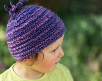 Pootle beanie Hat PDF knitting pattern (instructions)