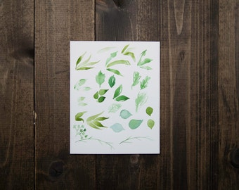 Leaf Meditations Watercolor Painting