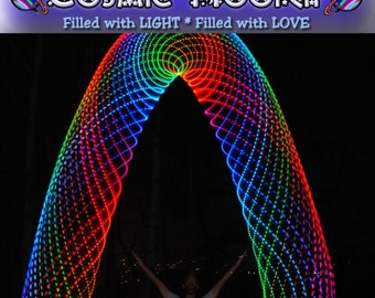 """Rainborion's Belt LED Hoop from Cosmic Hooper - 10 colors / 20 LEDs, 3/4"""" or 5/8"""" HDPE or polypro tubing"""