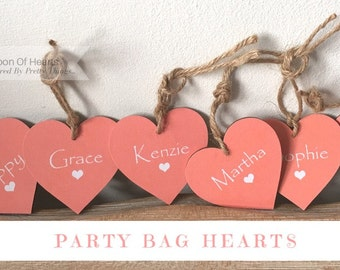 Party Bag/Sleepover Personalised Hearts