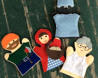 Little Red Riding Hood - Story Book Characters - Adult, Kid, AND Finger Puppet Sizes - Sold Individually or as a Set