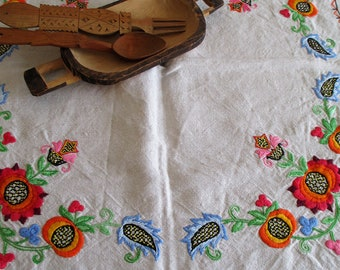 217. Table center /centerpiece /hand embroidered table center /linen table center (unused )