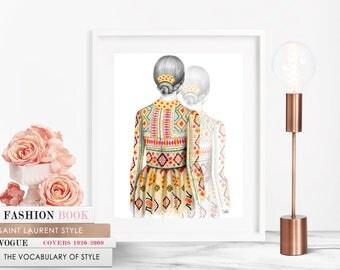 Valentino 2 SS14/ Fashion Illustration / Fashion Print