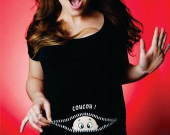 maternity shirt peek a boo glitter