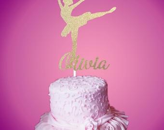 Ballerina Acrylic Cake Topper Kids Ballet Personalised Child