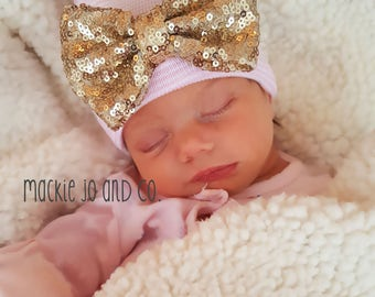 Sequin Newborn BABY GIRL HAT baby girl newborn hat newborn beanie hospital cap newborn girl newborn hat girl baby newborn
