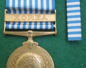 Original Korean War Campaign Medal & Service Ribbon - Free Shipping