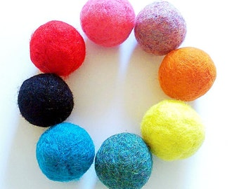 Cat Toys, Felted Wool Balls, Bouncy Balls, Set of 3, Catnip Balls, Balls for Cats, Gift for Cat, Felted Balls, Dryer Balls, Best Cat Toys