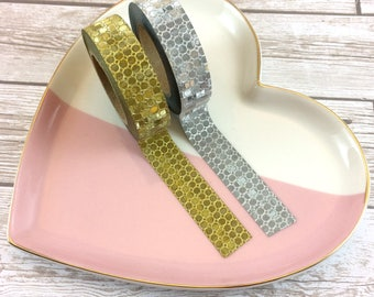 Sequin Look Washi Tape // Set of 2 // Full Roll // W6