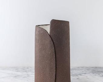 Sculptural Teardrop Vase with Overlap Seam