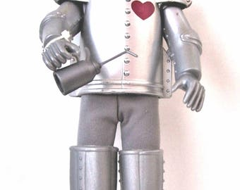 "Vintage Pose-able 12""  Wizard Of Oz Tin Man Doll With Oil Can and Ax Mint - No Box"
